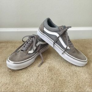 VANS OLD SKOOL SUEDE CANVAS FROST GREY & WHITE
